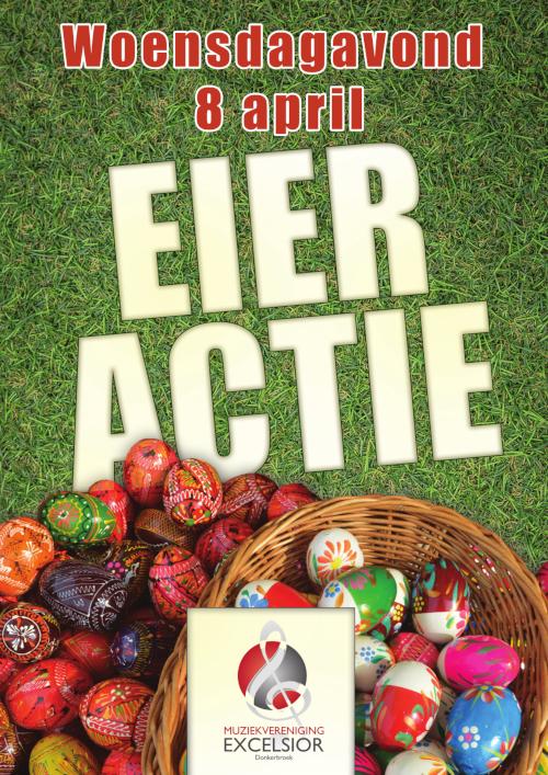Poster paaseieren actie Excelsior Donkerbroek