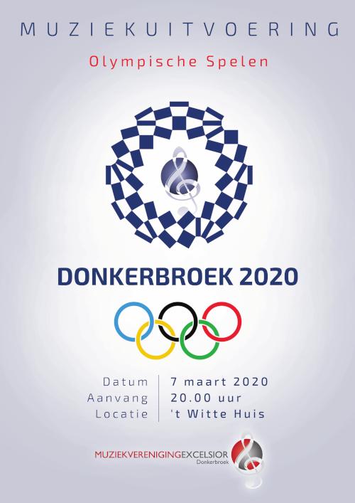 Poster voorjaarsconcert Excelsior Donkerbroek